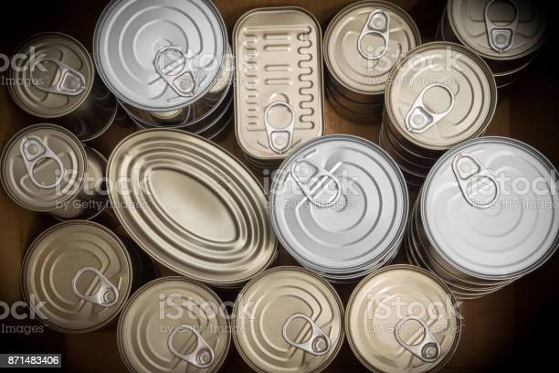 Closeup Of A Group Of Aluminium Cans Stock Photo - Download Image Now