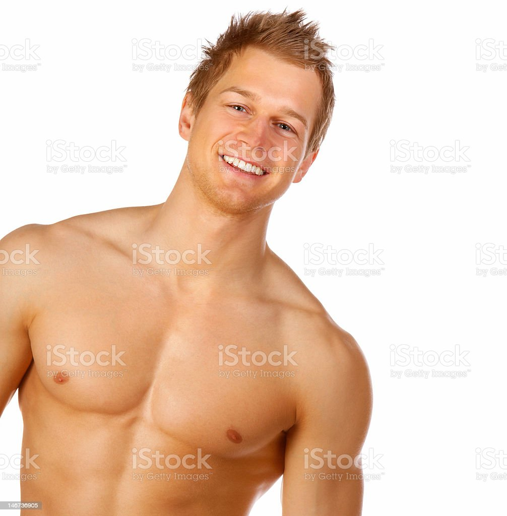 Close-up of a handsome young man royalty-free stock photo