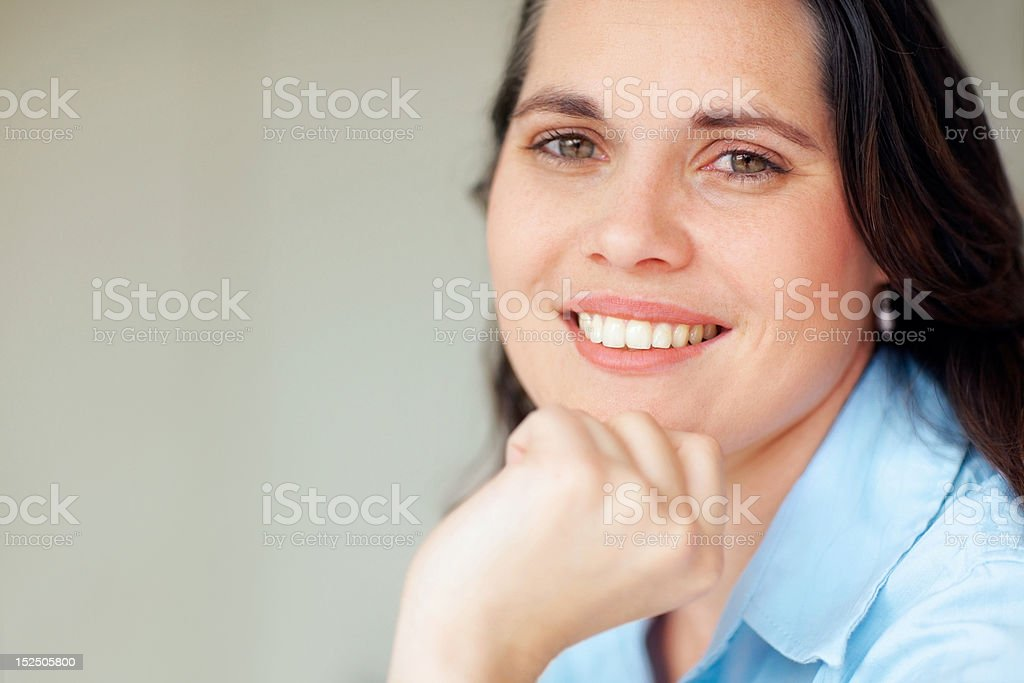 Close-up of a happy female young doctor royalty-free stock photo