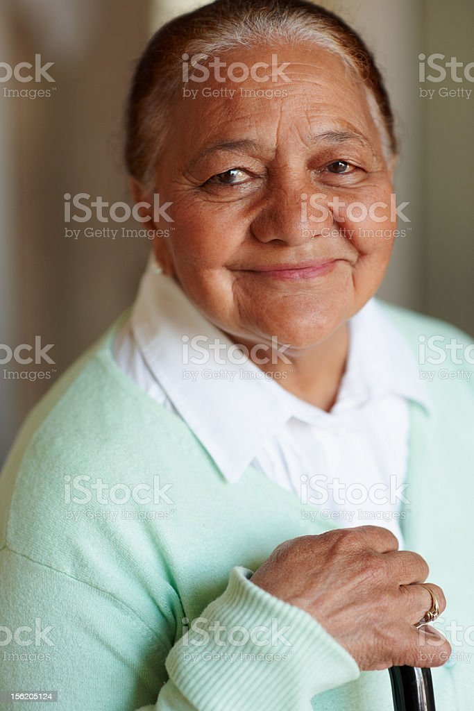 Close-up of a happy old woman royalty-free stock photo