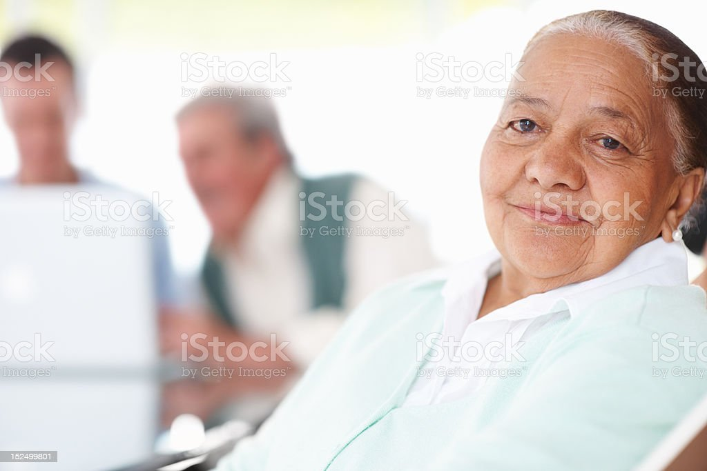 Close-up of a happy senior patient royalty-free stock photo