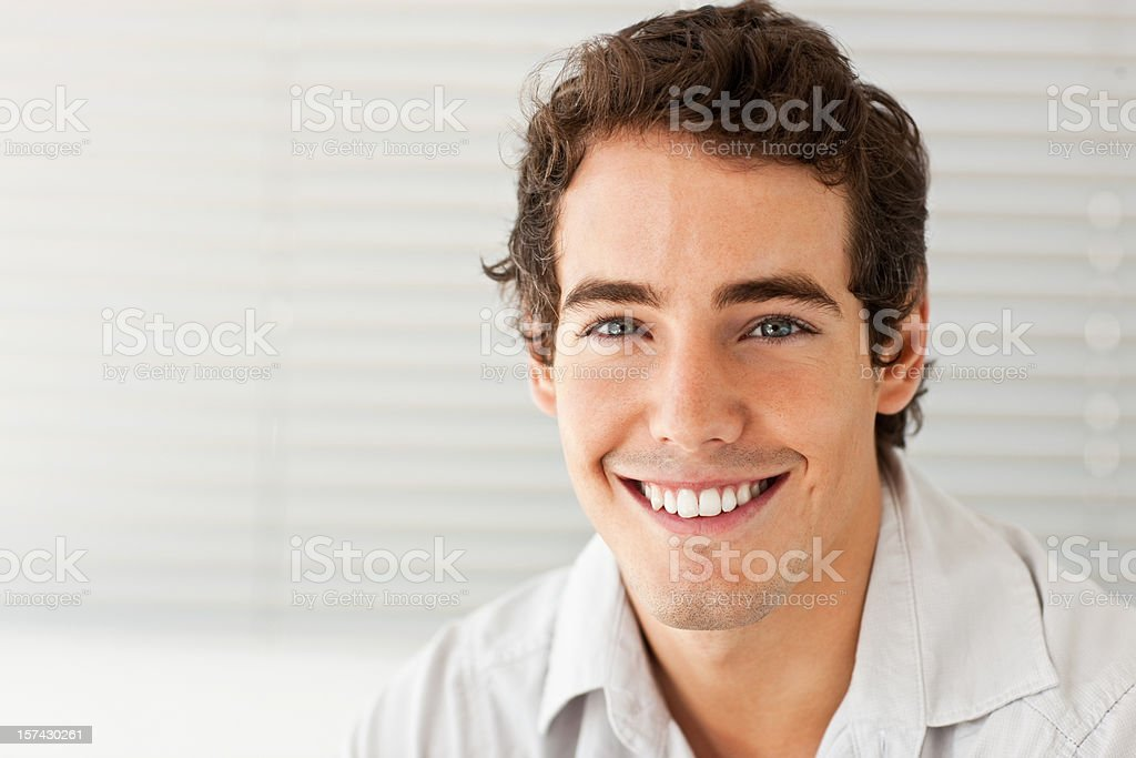 Closeup of a happy young man royalty-free stock photo
