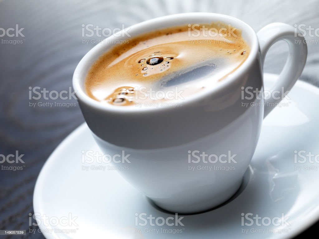 Close-up of a hot coffee cup royalty-free stock photo