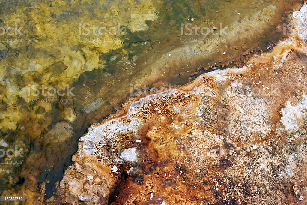 close-up of a hot spring stock photo