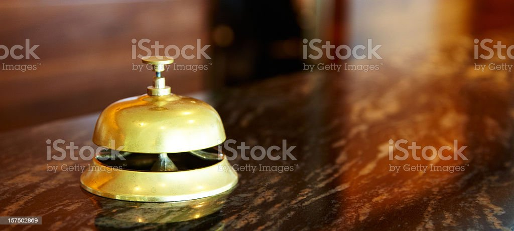 Close-up of a hotel bell stock photo