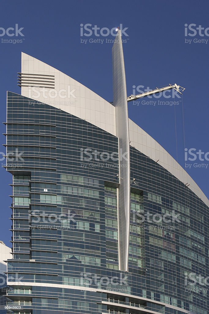 close-up of a hotel in Dubai royalty-free stock photo
