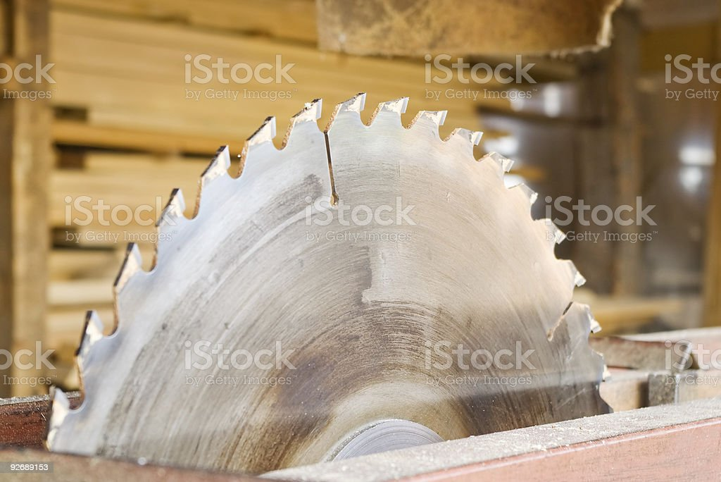 Close-up of a huge sawmill with cup on side stock photo
