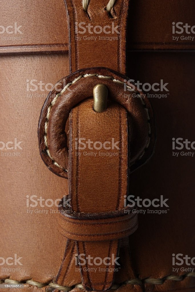 Close-up of a leather handbag royalty-free stock photo