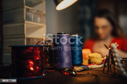 512345816istockphoto Close-up of a making jewelry tools 960677066