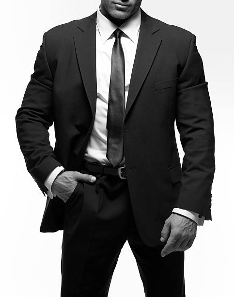 Nahaufnahme von einem Mann In einem Anzug mit Krawatte – Foto