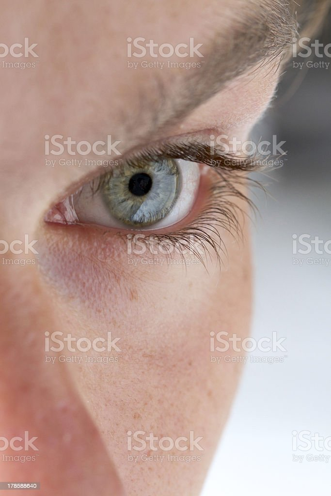 Close-up of a man's eye stock photo