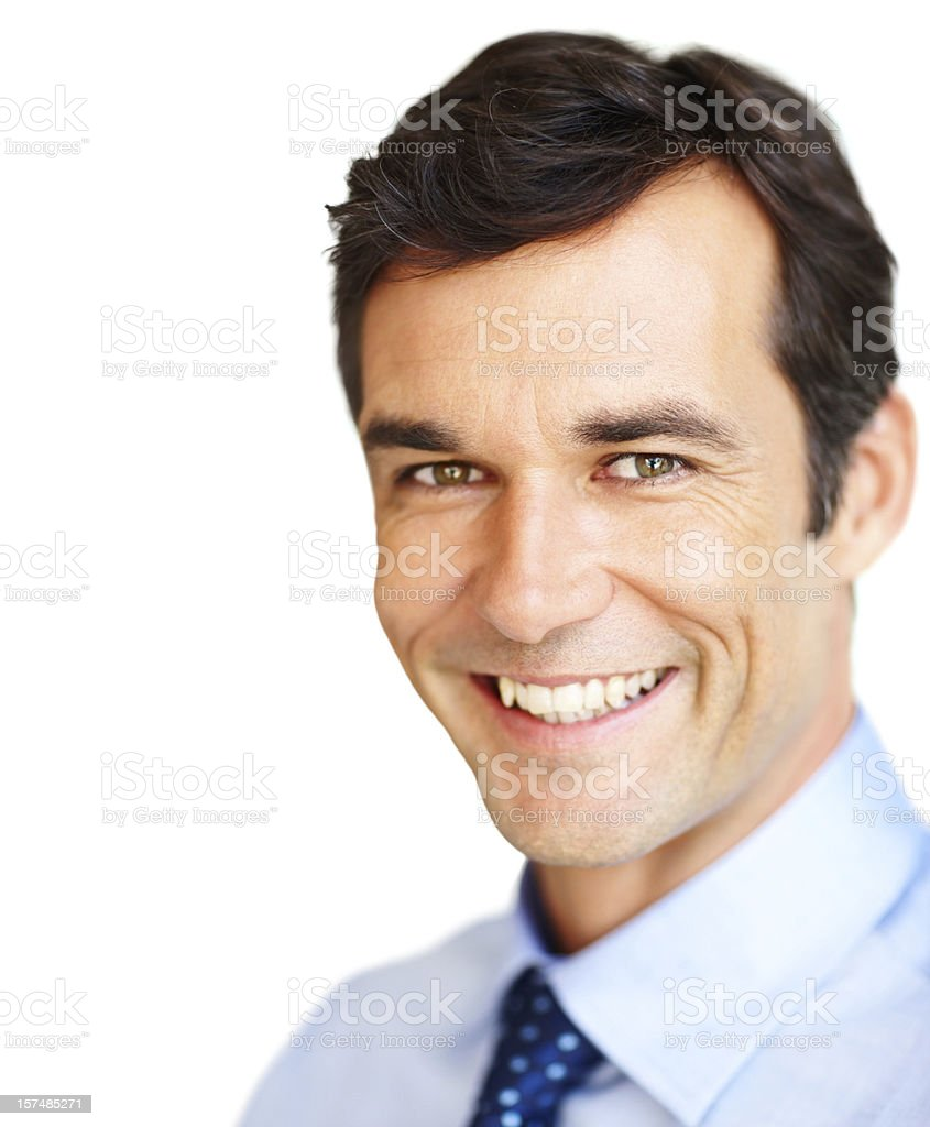 Close-up of a mature businessman smiling royalty-free stock photo