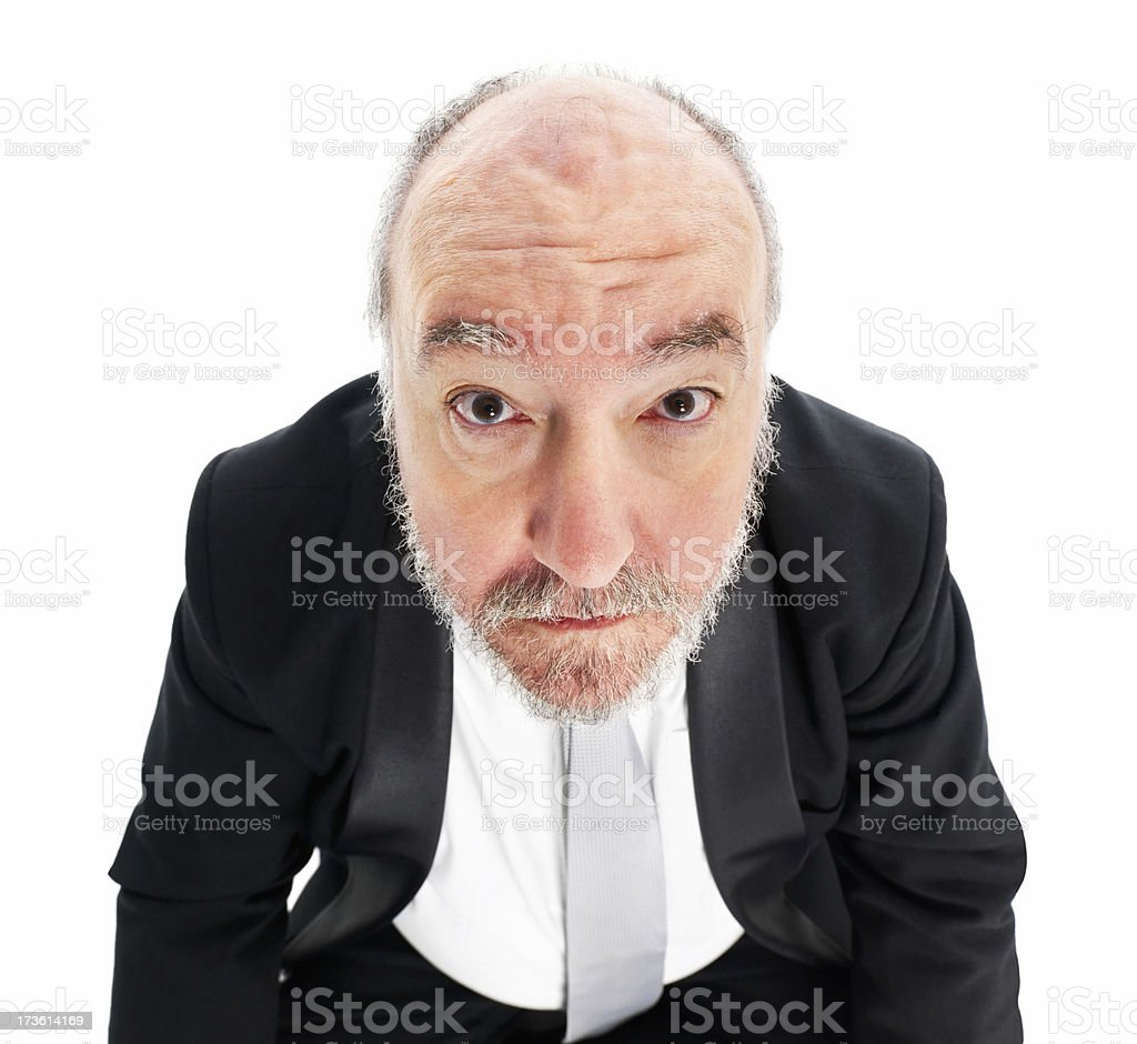 Close-up of a mature businessman staring royalty-free stock photo