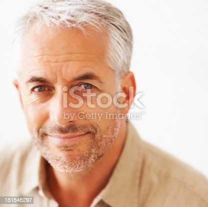 istock Close-up of a mature man smirking 151545297
