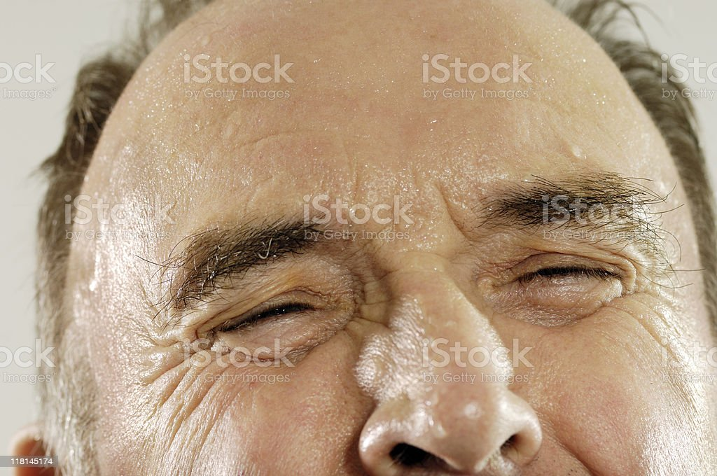Close-up of a mature man under stress stock photo