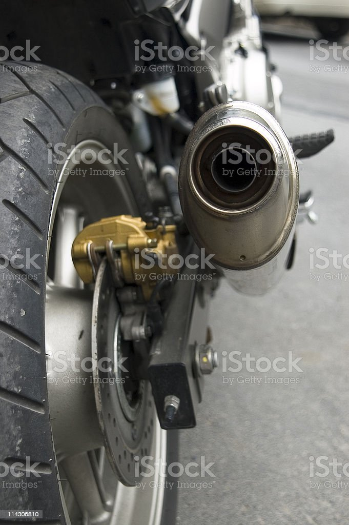 Close-up of a motorcycle, Turkey, Istanbul royalty-free stock photo