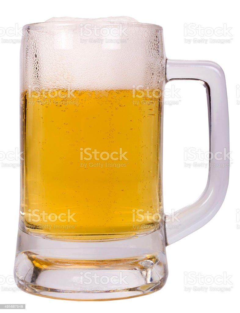 Close-up of a mug of beer stock photo