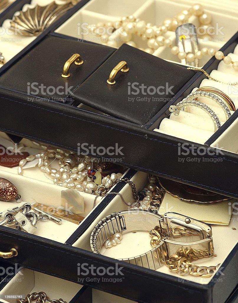 Casella di gioielli - foto stock