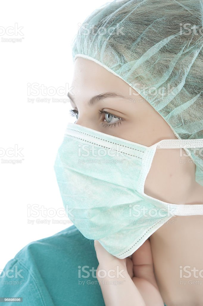 Close-up of a nurse royalty-free stock photo