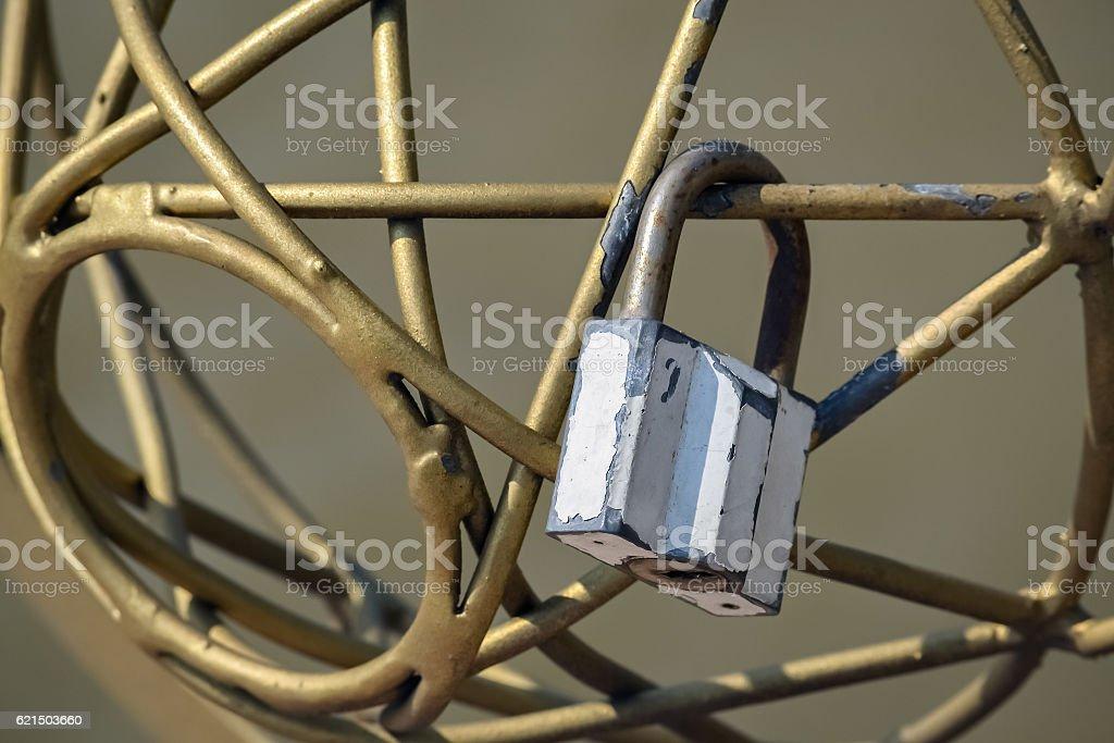 Closeup of a padlock Lizenzfreies stock-foto