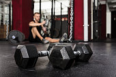 istock Close-up Of A Pair Of Dumbbells 1324371360