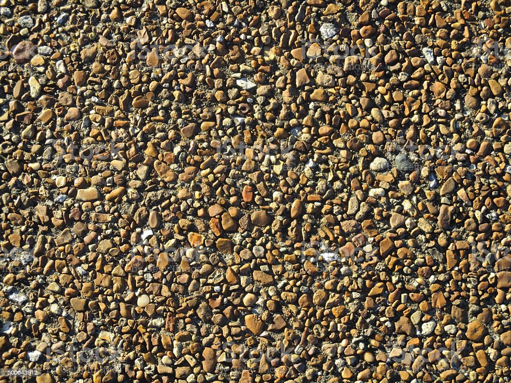 Close-Up of a Pebble Walkway in a Park stock photo