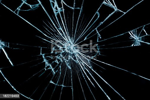 istock Close-up of a piece of broken glass 182219453