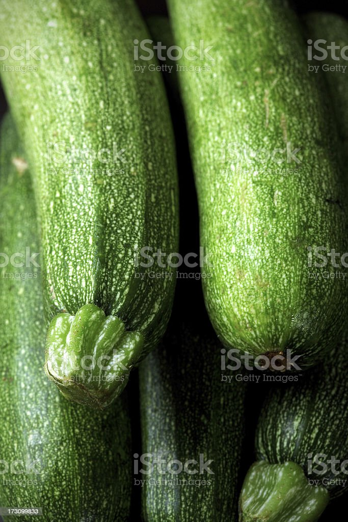 Close-up of a pile of green zucchini royalty-free stock photo