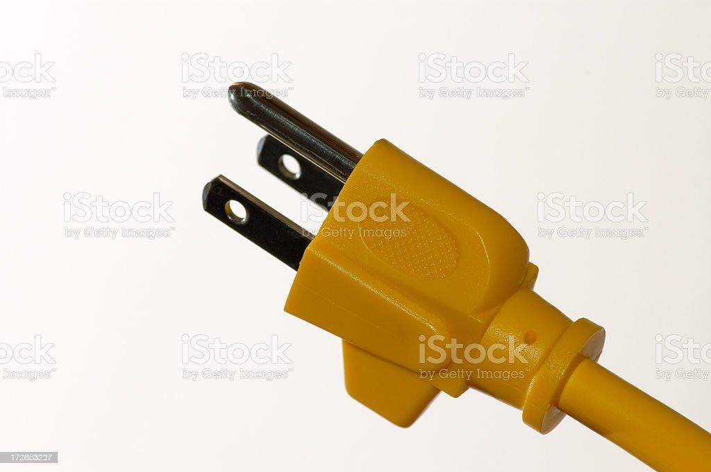 Closeup of a power plug royalty-free stock photo