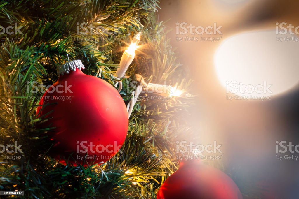 A close-up of a red Christmas ornament royalty-free stock photo