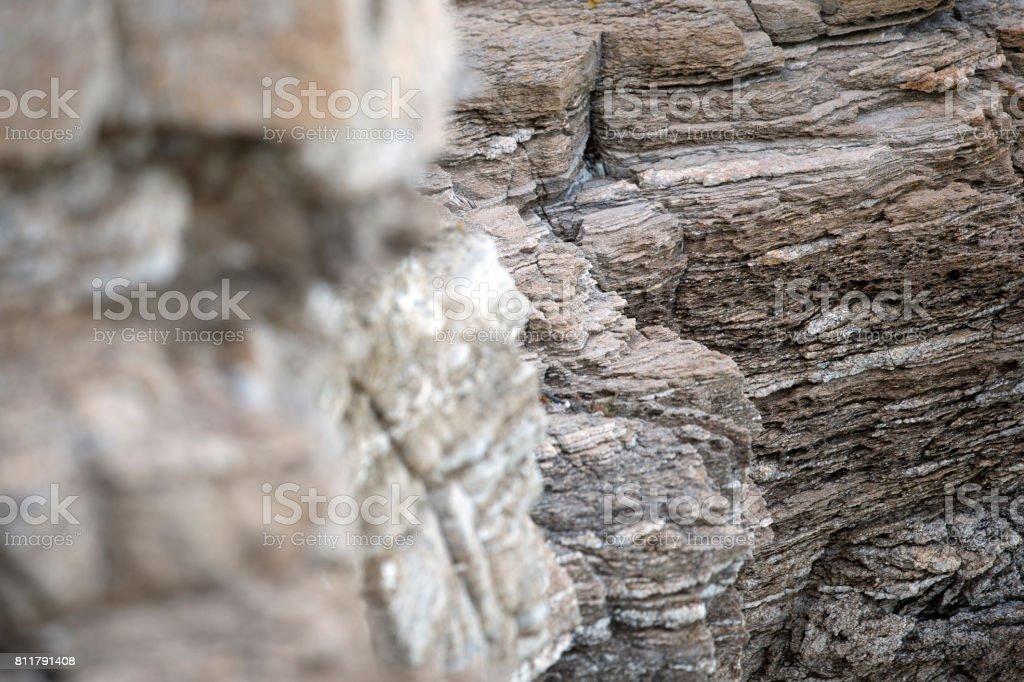 Close-up of a rocky Italian coast stock photo