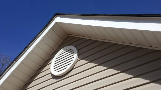 Closeup of a roof vent on a house. stock photo