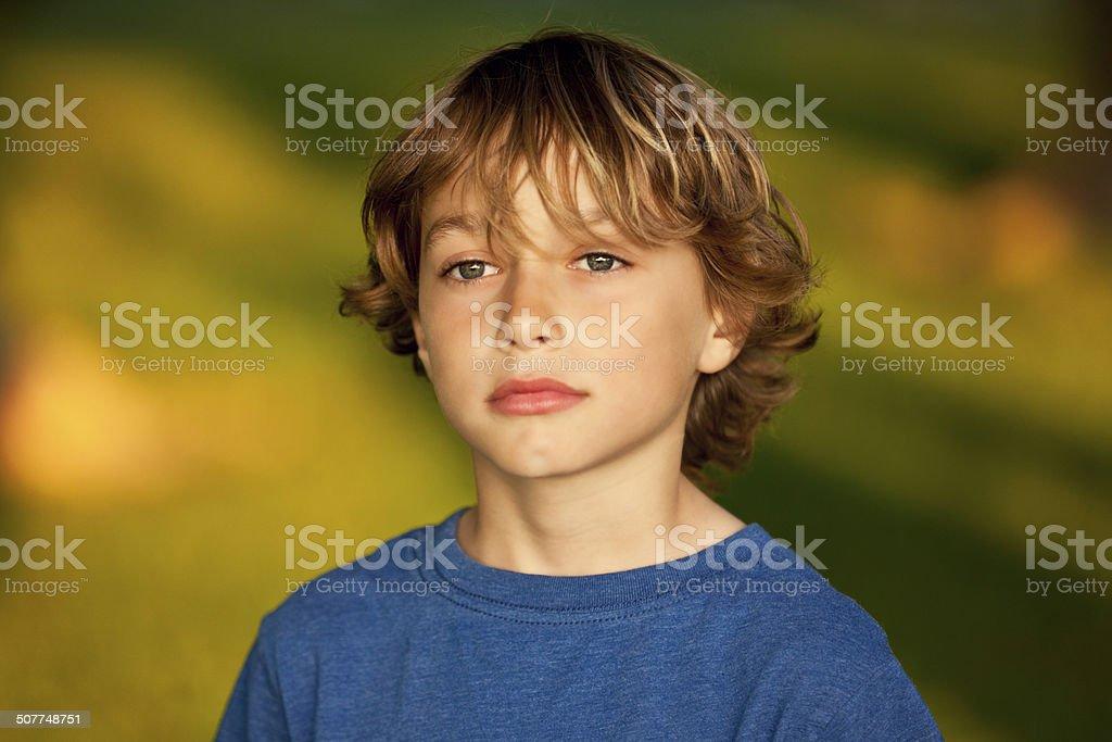 Closeup Of A Sad Child stock photo