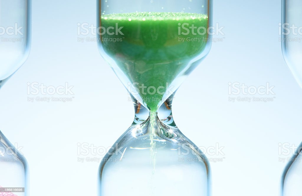 Close-up of a sandtimers (hourglass) stock photo