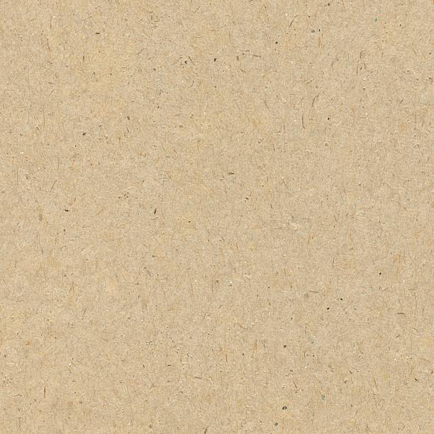 close-up of a seamless brown recycled paper background - 剪貼簿 個照片及圖片檔