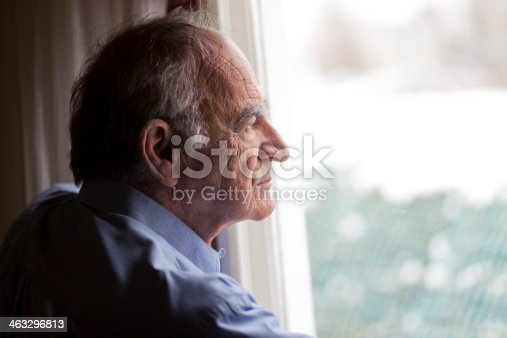 istock Close-up of a senior man contemplating 463296813