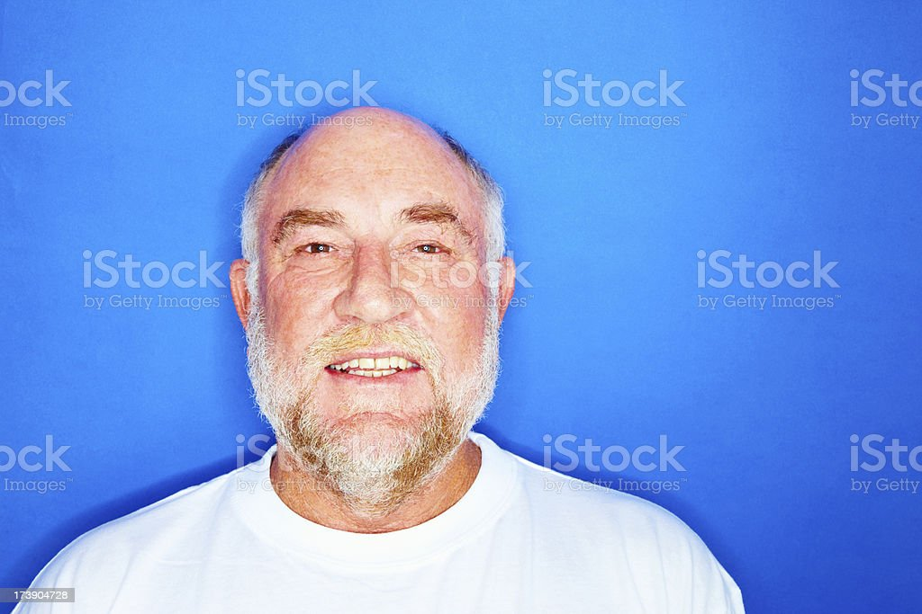 Close-up of a senior man smiling royalty-free stock photo
