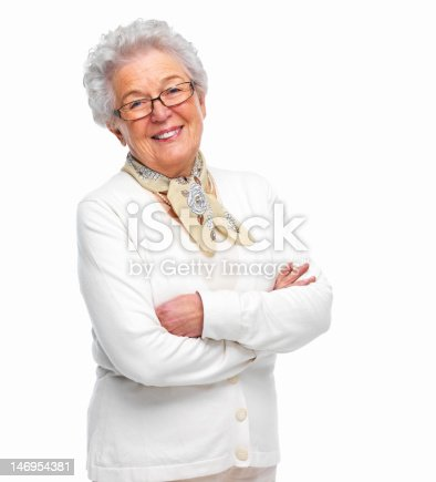 istock Close-up of a senior woman smiling 146954381