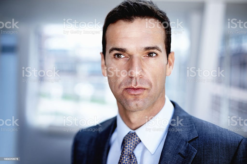Close-up of a serious mature businessman royalty-free stock photo