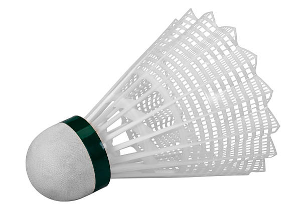 close-up of a shuttlecock - shuttlecock stock pictures, royalty-free photos & images