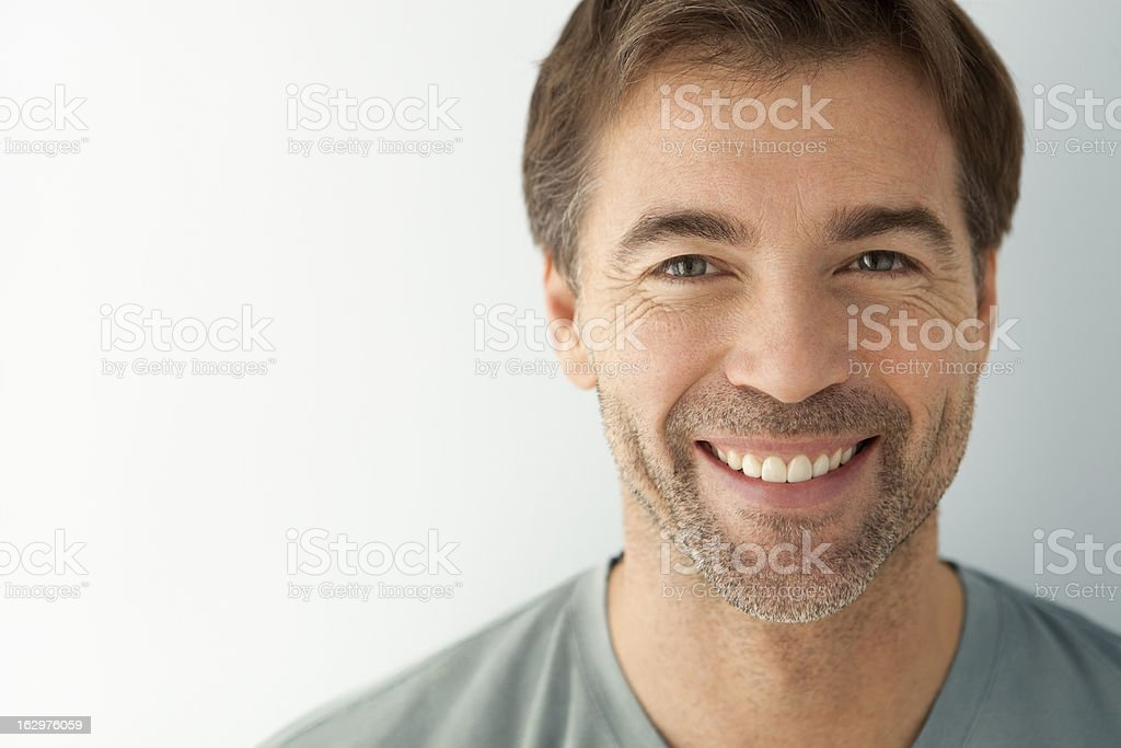 Close-up Of A Smiling Man stock photo