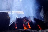 istock Close-up of a smokey peat fire 172973455