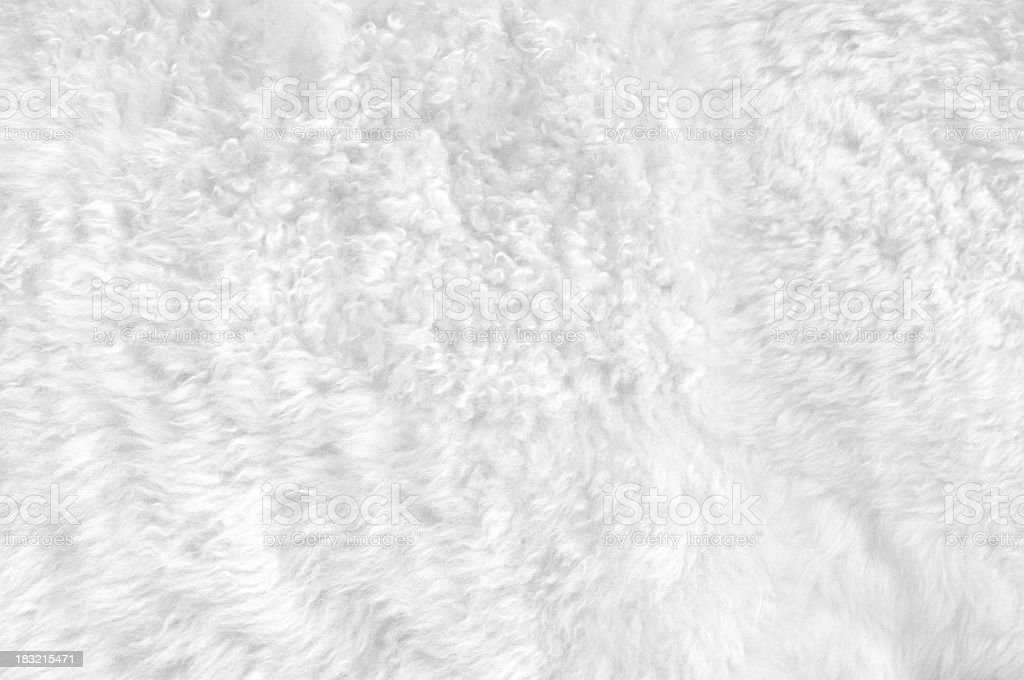 Close-up of a soft white furry blanket stock photo