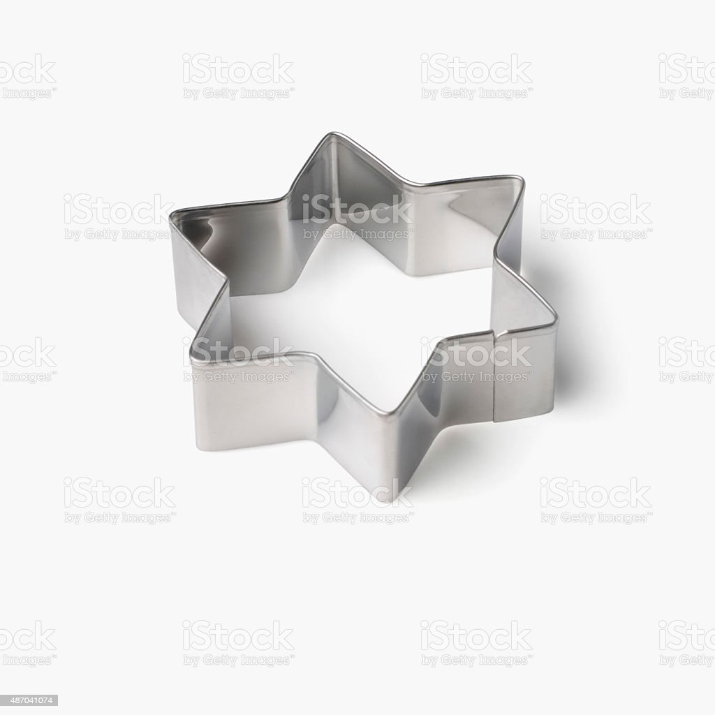 Close-up of a star shaped pastry cutter stock photo
