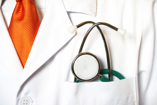 Closeup Of A Stethoscope In A Doctors Front Pocket Stock Photo - Download Image Now