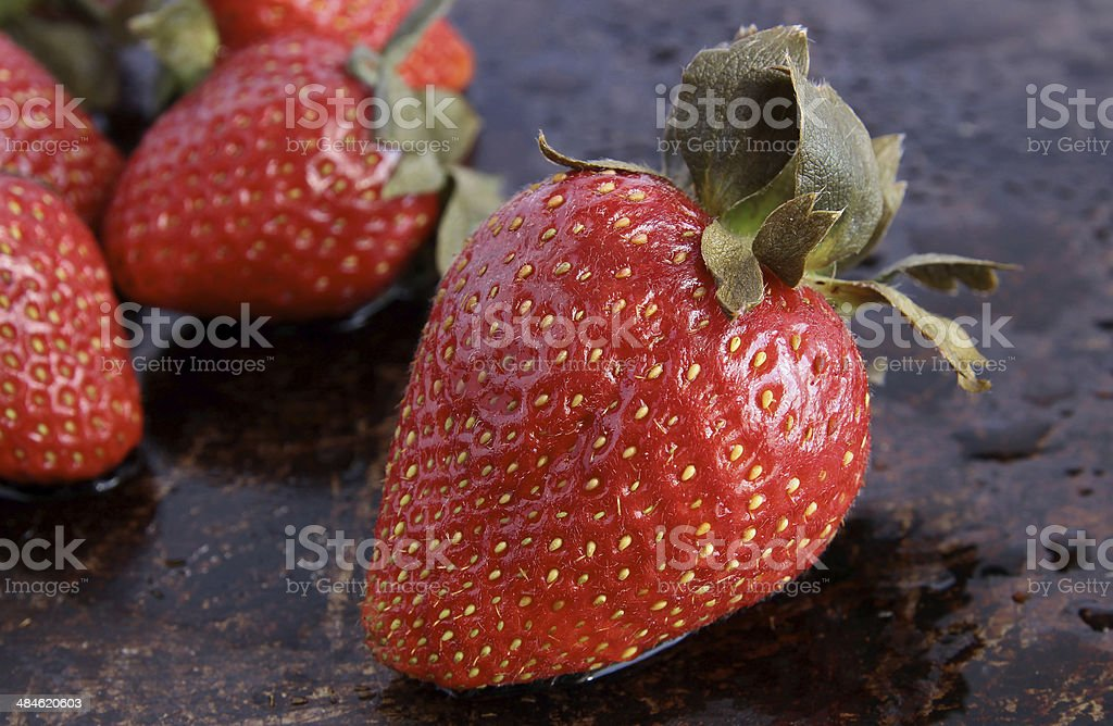 Close-up of a strawberry stock photo