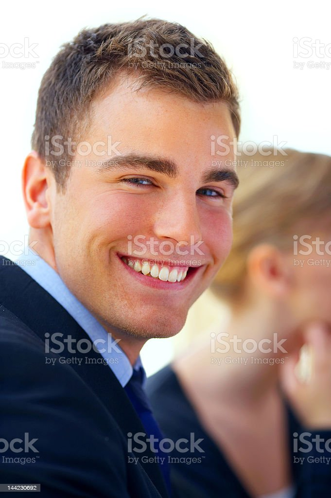Close-up of a successful businessman royalty-free stock photo