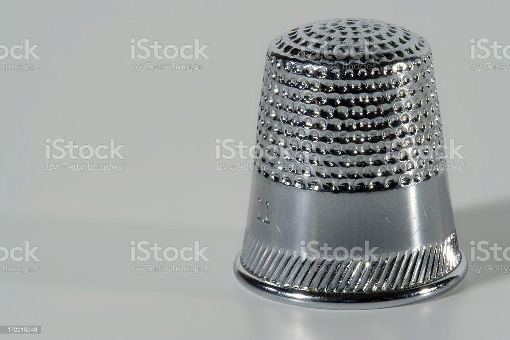 Closeup of a Thimble stock photo