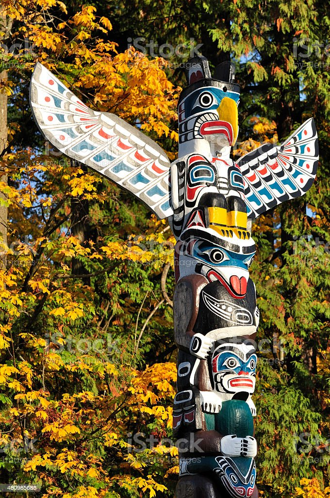 closeup of a totem stock photo