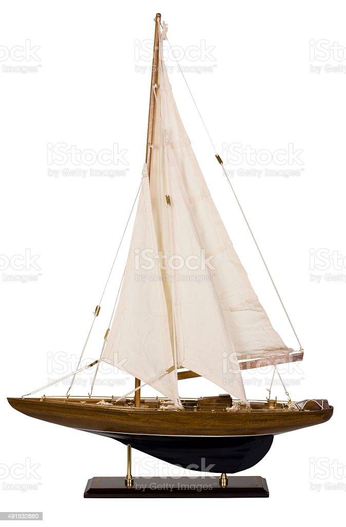 Close-up de um barco à vela de Brinquedo - foto de acervo